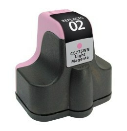 HP C8775WN #02 Compatible Inkjet Cartridge (240 page yield) - Light Magenta