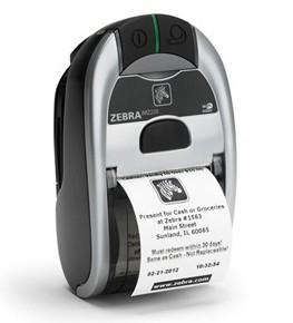 Zebra iMZ220 Portable Label Printer, Dual radio 802.11a/b/g/n and BT, US�Power Plug