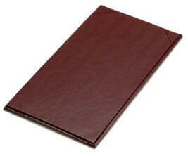 "11"" x 5 1/2"" - Plaza Menu Covers (25 covers/pack) - 1 Panel / 1 View - Black"