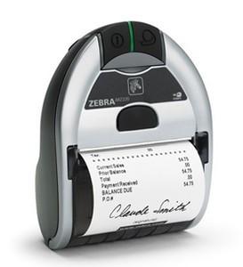 Zebra iMZ320 Portable Label Printer, Dual radio 802.11a/b/g/n and BT, US�Power Plug