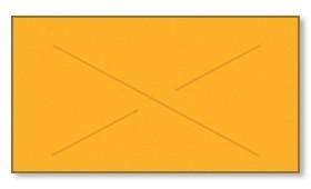 Garvey GX2212 Pricing Labels (1 Case = 20 sleeves @ 11,025 labels/sleeve = 220,500 labels) - Fluorescent Orange - Blank