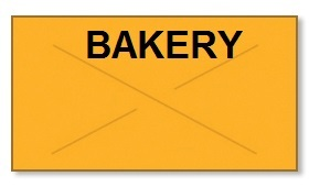 "Garvey GX2212 Pricing Labels (1 Case = 20 sleeves @ 11,025 labels/sleeve = 220,500 labels) - Orange/Black - ""Bakery"""