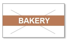 "Garvey GX2216 Pricing Labels (1 Case = 20 sleeves @ 9,000 labels/sleeve = 180,000 labels) - White/Brown - ""Bakery"""