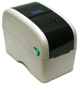 "TSC TTP-323 2"" wide Thermal Transfer Printer, 300 dpi, 3 ips (navy) includes real time clock, USB & Ethernet ports + LCD display"