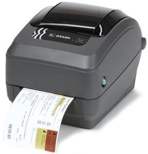 Zebra GX430 Desktop Label Printer with 10/100 Ethernet, Cutter, Adjustable Black Line Sensor, Extended Memory, Real Time Clock