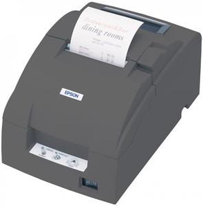 Epson TM-U220B - Impact/Receipt Printer, Compact Flash Wireless 802.11a/B/G/N (R04), Dark Gray, Autocutter, Power Supply Included