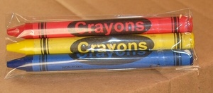 3-Pack Premium Cello Crayons (180 packs/case)