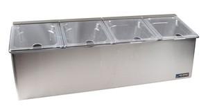 EZ-Chill Self Service Center - (4) 1/6 Pans, (4) Notched Lids, (1) Ice Liner