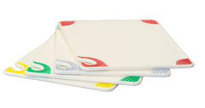 Saf-T-Grip White 4 Cutting Board System Colored Grips