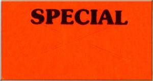 "Garvey G 2212 Pricing Labels (1 Case = 20 sleeves @ 11,025 labels/sleeve = 220,500 labels) - Red/Black - ""Special"""