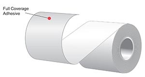 "3.125"" x 170'  MAXStick 21# Direct Thermal ""Sticky Paper"" (32 rolls/case) - Full Coverage Adhesive"