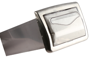 Venue In-Counter Napkin Dispenser - Interfold - Clear/Satin Chrome