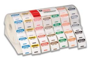 """1"""" x 1"""" Trilingual Permanent Labelocker Kit (Mon. - Sun.)"""