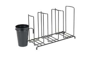 Cup & Lid Wire Organizer w/Caddy - 3 Stacks