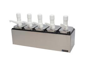 Condiment Pump Center - 5 Wells w/P7500 Pumps