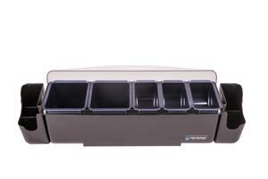 Dome Garnish Center - (2) 3 Pt Deep Trays, (3) 1 Pt Standard Trays, (2) Caddies & Handles