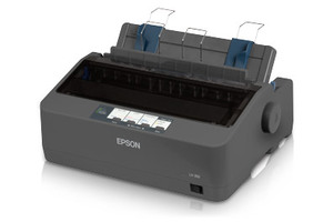 Epson LX-350 - 9-pin Impact Printer, Narrow Format, Multilingual, Parallel & USB Interfaces