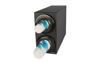EZ-Fit Bev Dispenser Cabinet - (2) C2410C w/Black Trim Rings
