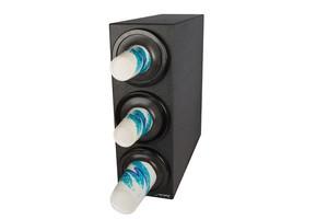 EZ-Fit Bev Dispenser Cabinet - (3) C2410C w/Black Trim Rings