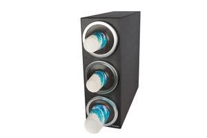 EZ-Fit Bev Dispenser Cabinet - (3) C2410C w/Metal Finish Trim Rings