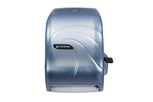 Lever Roll Paper Towel Dipsenser - w/Auto Transer - Oceans Blue