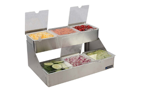 Stepped Center - Stepped w/Notched Lids - (6) 1 Qt w/Individual Notched Lids