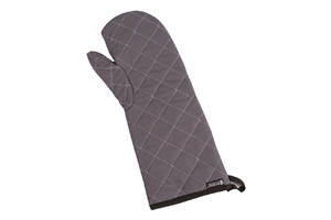"Wool Oven Mitt - Protects to 450F - 17"" - Grey"