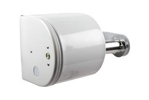 Covered Toilet Paper Dispenser - White
