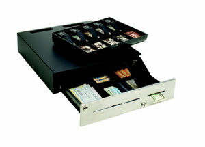 MMF ADV-INABOX Cash Drawer (Advantage Cash Drawer with LockIt, 5 Bills / 5 Coins US Till, Epson/Star Kwick Kable Included)