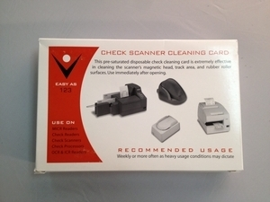 Check Scanner Cleaning Card (25 / Box)