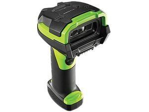 Zebra / Motorola LI3608 Barcode Scanner, Standard Range 1D Linear Imager, USB Kit Includes Scanner (LI3608-Sr00003vzww) and 7 Foot USB Cable (CBA-U46-S07zar), Vibration Motor, Industrial Green