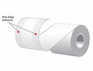 """3.125"""" x 160'  MAXStick 15# Direct Thermal """"Sticky Paper"""" (24 rolls/case) - Side-Edge Adhesive - Green"""