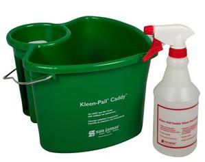 Kleen-Pail Caddy - (1) Caddy & (1) Spray Bottle - Green