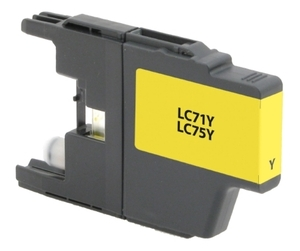 Brother LC75Y Compatible Inkjet Cartridge (600 page yield) - Yellow
