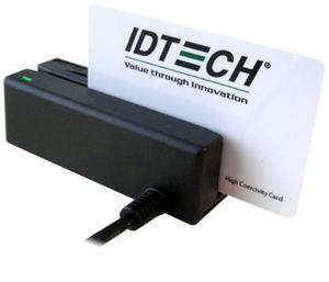 ID Tech, MiniMag, MSR, Tracks 1,2, and 3, USB Keyboard Emulation, Black