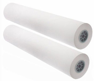 "22"" x 650' - 20# Engineering Copy Bond Paper, 3"" Core (2 rolls/carton) - 92 Bright"