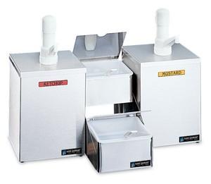 Pump & Condiment Tray Center - (2) Ultra Pumps & Boxes, (2) 1 Qt Inserts w/Spoons