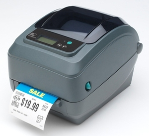 Zebra GX420T Desktop Label Printer with Cutter, Adjustable Black Line Sensor, Extended Memory, Real Time Clock