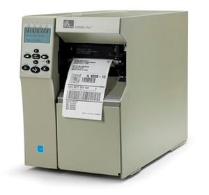 "Zebra 105SLPlus Industrial Label Printer - 4"" Print Width, 300 DPI, Rewind with Peel"