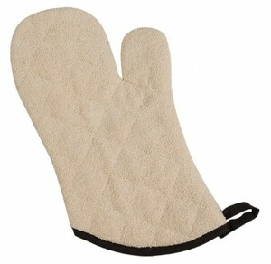 """Terry Oven Mitts Heavy Duty - Protects to 500F - 17"""""""