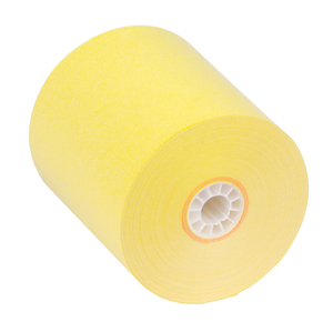 """3"""" x 150'  1-Ply Bond Paper  (50 rolls/case) - Canary Yellow"""
