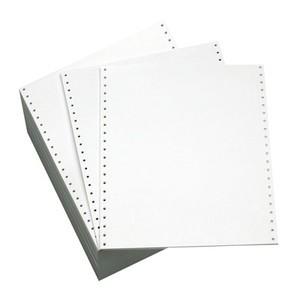 "10 5/8"" x 11"" - 20# 1-Ply Continuous Computer Paper (2,700 sheets/carton) No Vert. Perf - 1/2"" Green Bar"