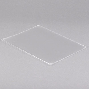 "14"" x 8 1/2"" - Clear Vinyl Menu Covers (25 covers/pack) - 1 Panel / 2 View"