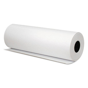 "30"" x 800' - 50# Bleached Bright White Kraft Roll"