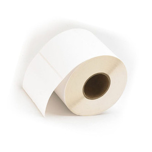 """4"""" x 4"""" - Die Cut High Gloss Inkjet Label - Paper; 2 Rolls/case; 1,250 Labels/roll"""