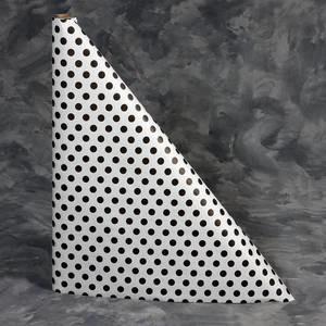 "40"" x 100'  Paper Table Cover (1 roll) - Black Polka Dot Design"