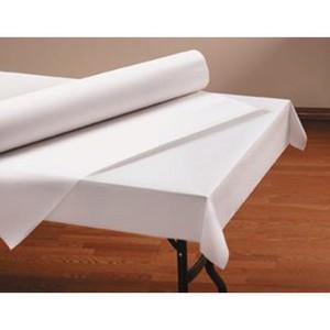 "40"" x 100'  Paper Table Cover (1 roll) - Plain White Kraft"