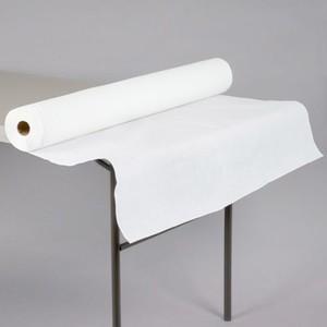 "40"" x 300'  Paper Table Cover (1 roll) - Plain White Kraft"