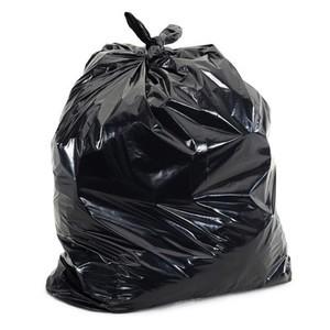 "40"" x 48"" - 12 micron Trash Bags (250 bags/case) - Black"
