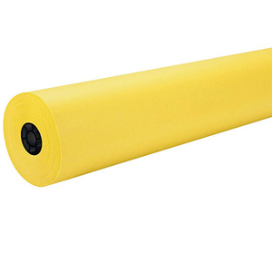 "48"" x 100' - Flameless Flame Retardant Paper (1 Roll) - Sunrise Yellow"